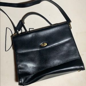 Coach Madison Copley Black Leather Bag